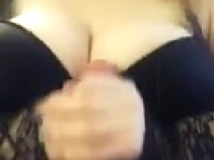Dark brassiere titfuck and spunk fountain FULL