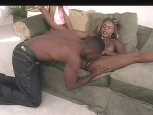 Busty Ebony Treats Self To Huge Cock