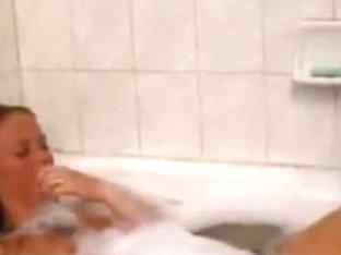 girlfriend disrobes for me and masturbates in the bathtub her petite milk sacks are killing me