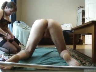 bent over small cock fingered ass