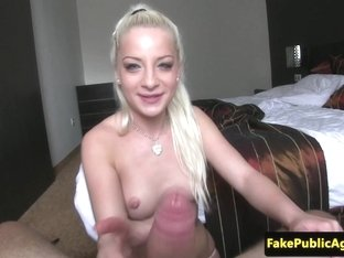Real euro babe doggystyled for cash