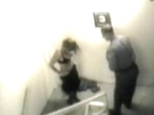 Stairway sex caught on tape