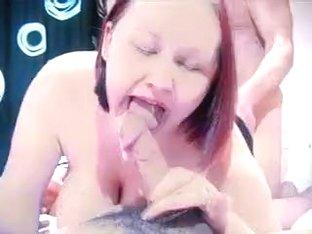 Non-Professional - MMMF big beautiful woman Foursome CIM Facual Cumshots