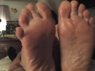 Amazing amateur foot show, footjob and cum  shot