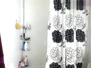Brunette Chroniclove in the shower