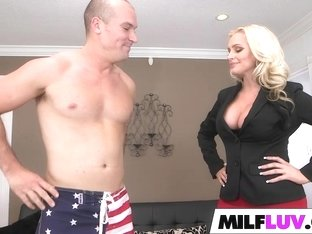 Curvy MILF Alena Croft gets drilled
