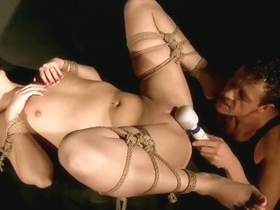 Tied up lady Nilla fucking hard with her man