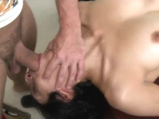 Horny brunette gives an amazing blowjob