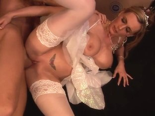 Horny pornstar in hottest lingerie, mature porn clip