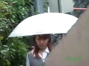 Japanese schoolgirls enjoy surprise sharking in public