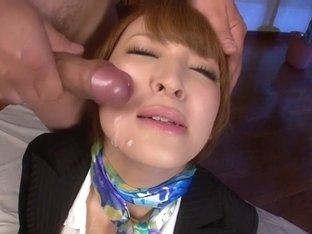 Amazing Japanese slut Hikaru Shiina in Hottest JAV uncensored Facial clip