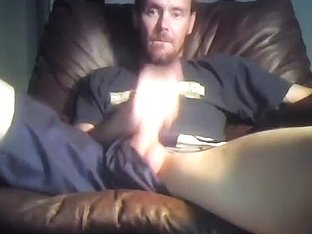 Seductive fagot is jerking in the apartment and shooting himself on web cam