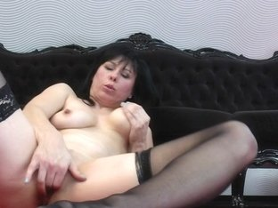 Sexually Excited housewife MAMA playing with her slit