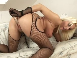 Blonde With Huge tits Gets A face full