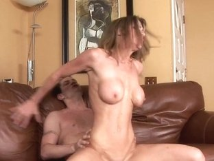 Super hot brunette babe Kayla Paige having steamy fucking session with a stud