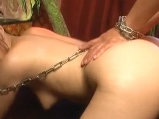 Aiko Nagai in latex puts cock in chains, sucks and fuck