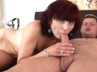 Grandma Wanda sucks rod and acquires drilled