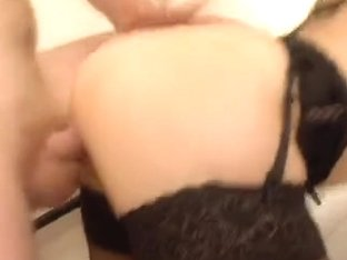 Brunette slut fucking a French guy on a selfshot tape