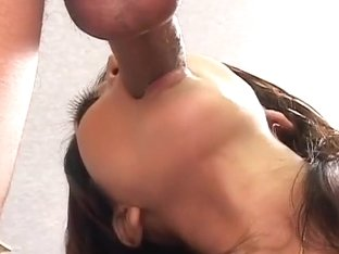 Gorgeous Japanese beauty Saya sucking uncensored