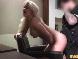 Sienna in Hotel Room Blonde Surprise For Cop - FakeCop