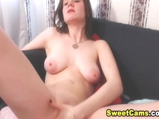 Sexy Big Tits Cam Teen Babe Play Her Cunt on Cam