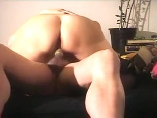 My horny wife Gina rides my cock after sucking it ardently