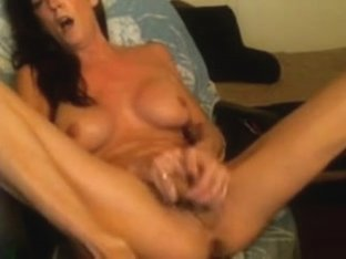 Fake Penis make her cum and squirt