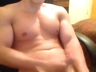 Handsome tattooed stud masturbates for me on webcam