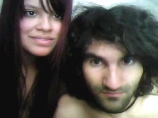 Webcam couple broadcasts hard sex