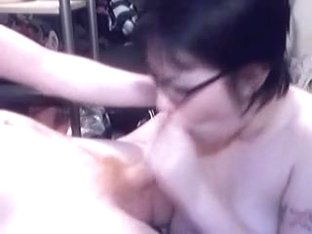 Emo girlfriend fellatio