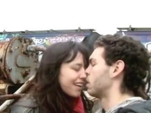 Couple has mutual masturbation and oral sex on a garbage belt