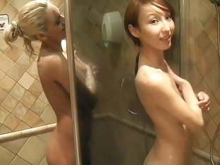 Pickup fuck with hot golden-haired and asian