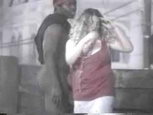 Voyeur vid of interracial public sex