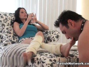 Horny pornstar in Amazing Brunette, Foot Fetish adult scene