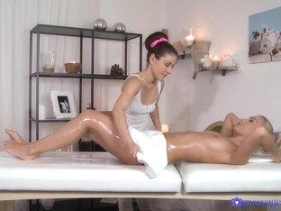 Incredible pornstars Eva Strauss, Micha in Hottest Fingering, Massage porn scene