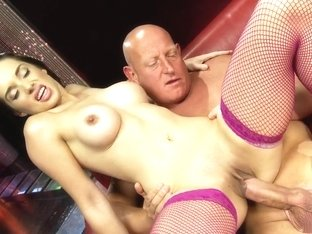 Fabulous pornstar in amazing big tits, lingerie sex clip