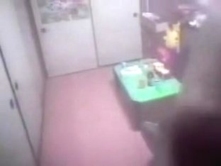 Girl before the TV caught masturbating on hidden cam