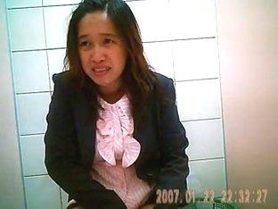 Hidden cam in thai office toilet
