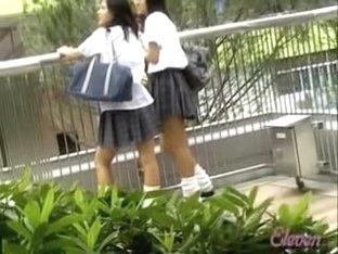 Hidden voyeur captured a sharking skirt scene happening live