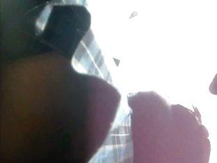 Plaid schoolgirl uniform upskirt voyeur video