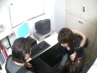 Hidden camera kinky Japanese hardcore sex in the office
