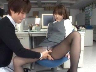 Fabulous Japanese chick Koharu Yuzuki in Horny Secretary, Stockings/Pansuto JAV clip