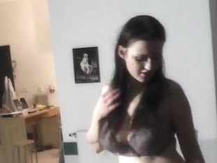 Czech chick with super big tits at the casting