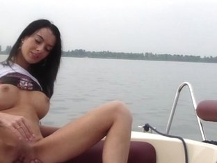 Vehement fucking on a boat