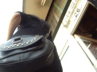 This bitche's purse perfectly match her tight thighs