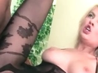 Blond fucking wearing a crotchless bodystocking