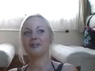 Breasty dilettante german golden-haired talking (homemade)