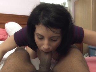 Violet loves to Suck Black Cock