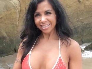 Beautiful Katalina shows her big tits in milf sex film