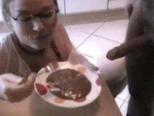 Very cute cocksucker on her knees receives big facial